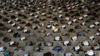 Masjid Al-Akbar Surabaya Terapkan Prokes Ketat Saat Gelar Salat Id