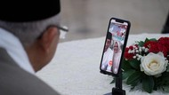 Momen Jokowi-Maruf Silaturahmi Lebaran Lewat Video Call
