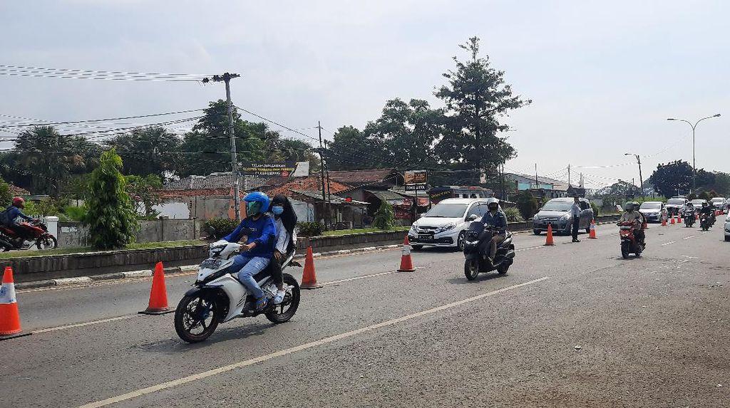 Hari Lebaran, Tak Ada Penyekatan di Pos Kedungwaringin-Tanjungpura