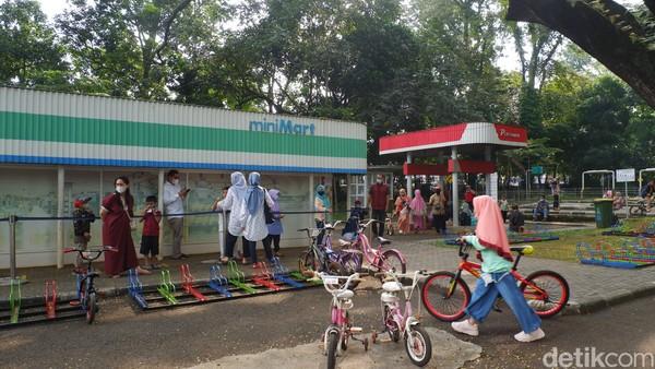 Kunjungan Taman Lalu Lintas Ade Irma Suryani Nasution cukup jauh berbeda jika dibandingkan kunjungan di musim libur lebaran tahun-tahun sebelumnya.