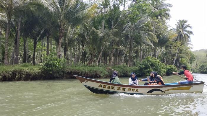 Wisata susur Sungai Maron berangkat dari Pantai Ngiroboyo