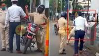 Gara-gara Enggak Pakai Helm, Dua Polisi Saling Baku Hantam