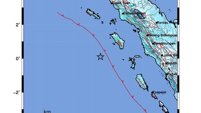 Gempa M 7,2 guncang Nias Barat Sumut (Foto: dok BMKG)