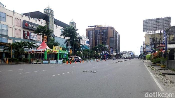 Jalanan Kota Medan Lengang di Hari Kedua Lebaran