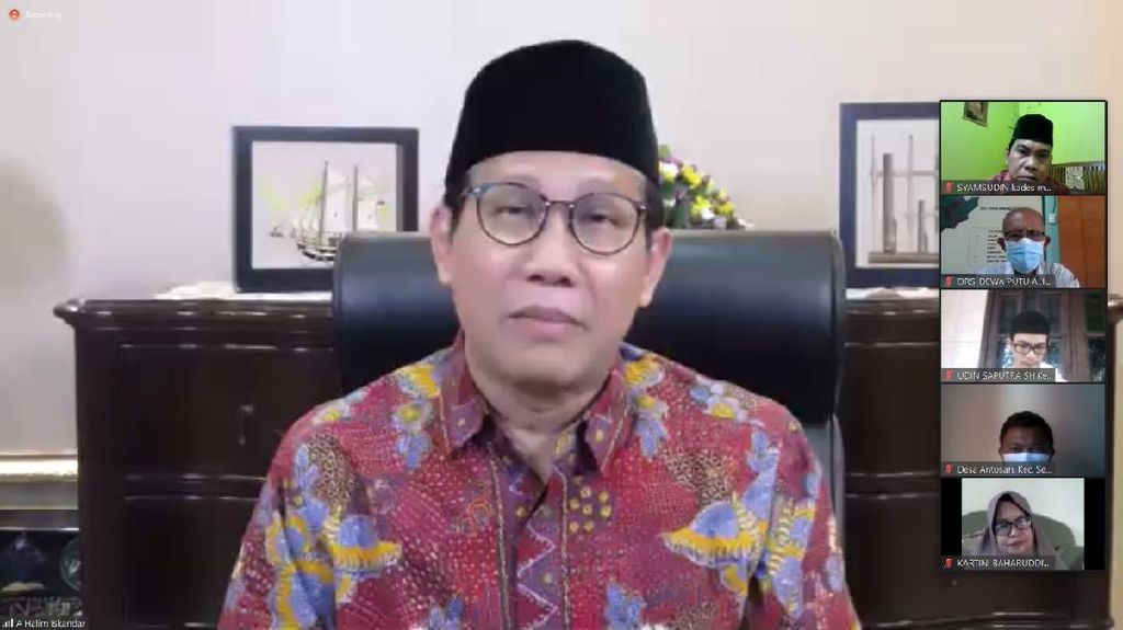 Gelar Halalbihalal Virtual, Ini Pesan Mendes ke Kades Se-Indonesia