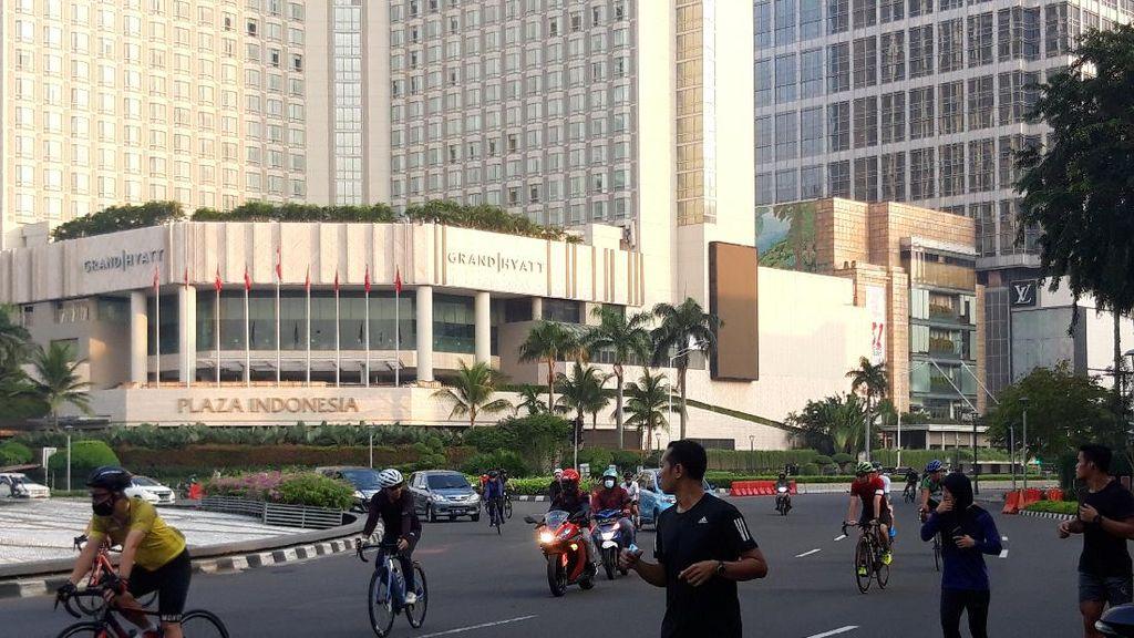Suasana Bundaran HI Jakarta Pusat di Hari Kedua Lebaran