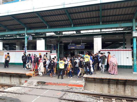 Suasana di Stasiun Manggarai usai ditegur Menhub