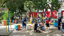 Leluasa Bergerak di Taman Kota Bandung di Saat Libur Lebaran