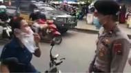 Viral Emak-emak di Sumbar Dicegat Polisi Gegara Pakai Masker Plastik Kresek