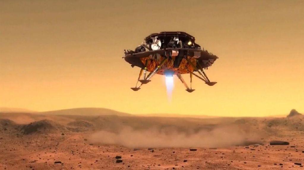 Pendaratan Mulus Zhurong Robot Penjelajah China di Mars