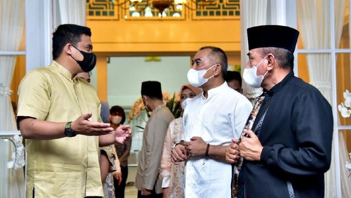 Gubsu Edy Rahmayadi dan Walkot Medan Bobby Nasution