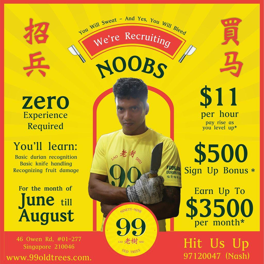 lowongan kerja unik toko durian di Singapura buat yang hobi nge-gym.