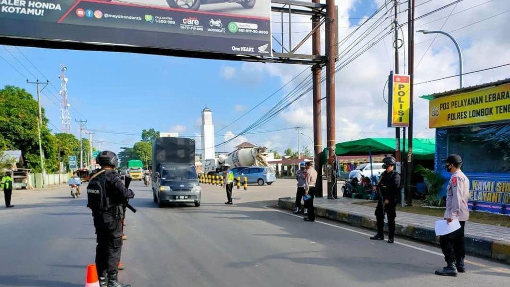 Libur Lebaran, Polisi Sekat Akses ke Objek Wisata di Lombok Tengah