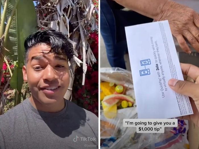 TikToker sumbangkan Rp 14 juta ke penjual makanan keliling