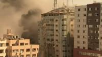 Detik-detik Gedung Kantor Media di Gaza Hancur Akibat Serangan Israel