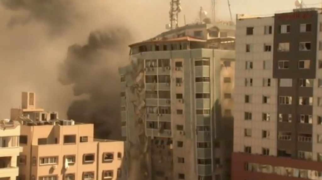 Situasi Menegangkan di Kantor Media Gaza Sebelum Dihancurkan Israel