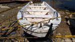 Ini Perahu yang Terbalik di Waduk Kedungombo