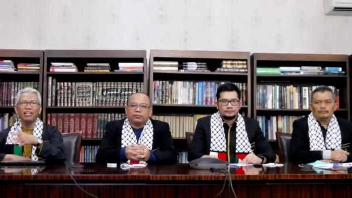 Jumpa pers Partai Ummat secara virtual