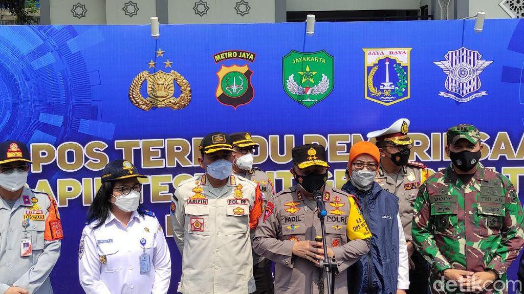 Kapolda Metro: 110 Pengendara Masuk Jakarta Di-rapid Test, 2 Orang Positif