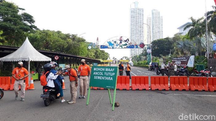 Kawasan Ancol ditutup hingga 17 Mei (Rakha/detikcom)