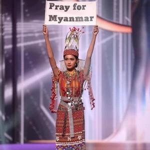 Drama Koper Hilang, Miss Myanmar Menang National Costume Miss Universe 2020