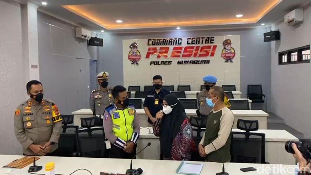 Pengendara Pelat B yang Ngegas ke Petugas Penyekatan Meminta Maaf