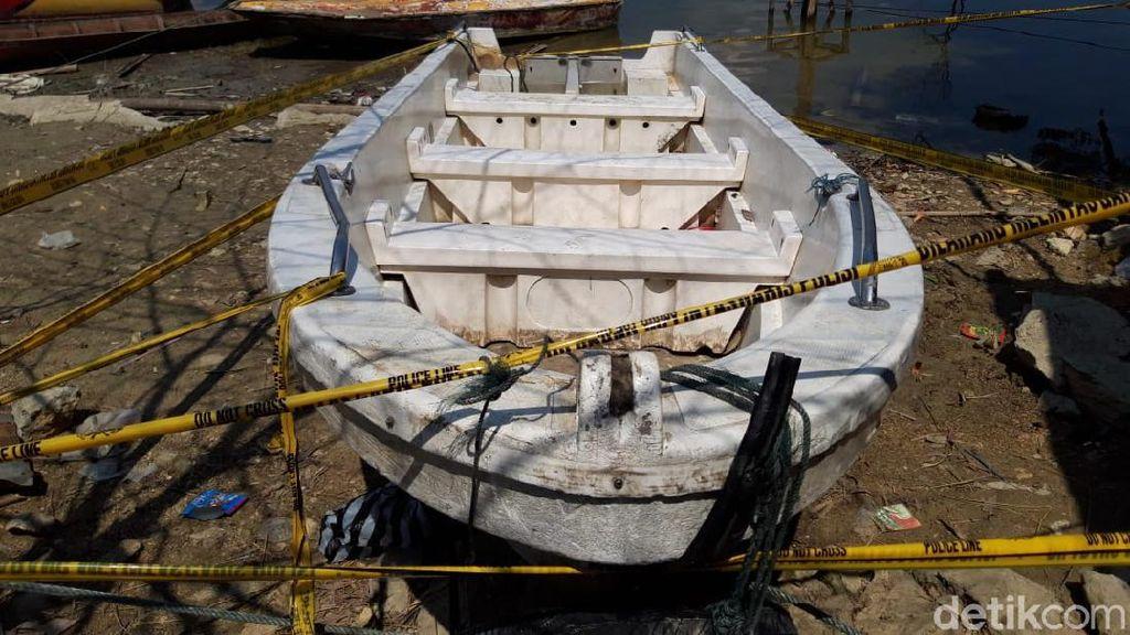 Perahu yang Terbalik di Waduk Kedungombo Dinahkodai Anak Bawah Umur