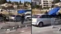 Detik-detik Pengemudi Palestina Tabrak Kerumunan Polisi Israel