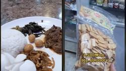 Segini Harga Nasi Padang dan Ikan Asin Indonesia di Korea