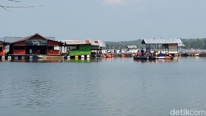 Lokasi tenggelamnya perahu di Waduk Kedungombo, Boyolali, Senin (17/5/2021).