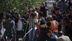 Iringan Takbir Saat Bocah Gaza Selamat Usai Digempur Israel