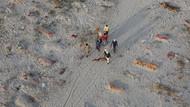 Potret Ratusan Mayat Terkubur di Tepi Sungai Gangga