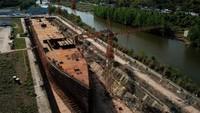 Foto Replika Kapal Titanic Made in China