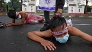 Aksi Teatrikal Kecam Kebrutalan Israel Menyerang Palestina
