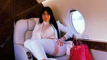 10 Gaya Georgina Rodriguez Saat Naik Pesawat Jet, Selalu Mewah!