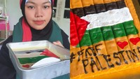 Keren! Dukung Palestina, Baker Ini Bikin Kue Bergambar Bendera Palestina