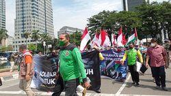 Massa KSPI Gelar Aksi Solidaritas Palestina, Long March ke Kantor PBB