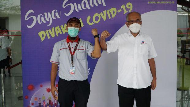 PT. Toyota Motor Manufacturing Indonesia (TMMIN) secara resmi mulai memberikan vaksin COVID-19 kepada karyawan dan keluarga.