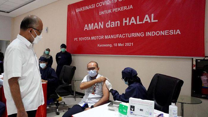 PT Toyota Motor Manufacturing Indonesia (TMMIN) meluncurkan program Vaksinasi Gotong Royong COVID-19 sebagai upaya percepatan vaksin.