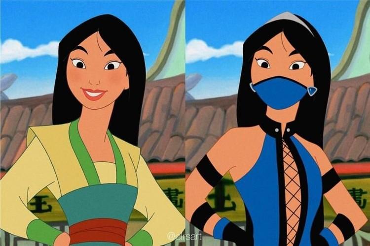 Karakter Disney Didesain Ulang Jadi Karakter Mortal Kombat. Mirip Gak?