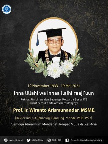 Mendikbud Era Soeharto Wiranto Arismunandar Meninggal Dunia di Usia 88 Tahun