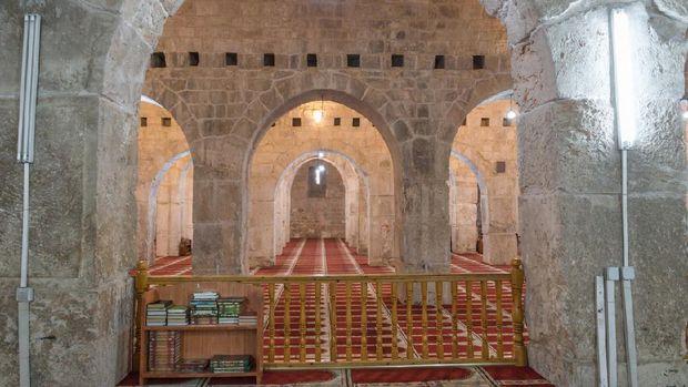 Terowongan di dalam Musholla Marwani di kompleks Al Aqsa, Kota Tua Yerussalem.