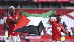 Paul Pogba Kibarkan Bendera Palestina di Old Trafford