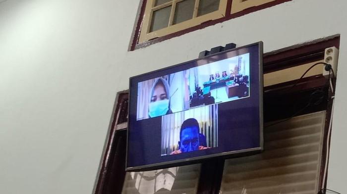 Sidang vonis Ketua KAMI Medan Khairi Amri (Ahmad Arfah-detikcom)