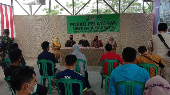 Tes swab di Bekasi (Dok Polres Metro Bekasi)