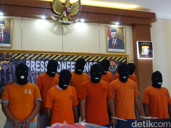 9 pengeroyok pemuda hingga meninggal diringkus Polres Sleman