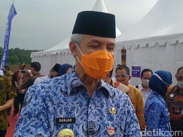 Gubernur Jawa Tengah, Ganjar Pranowo, di Batang, Kamis (20/5/2021).
