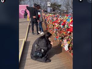 Kisah Viral Wanita Terbang dari Amerika ke Korea Demi Gembok Cinta