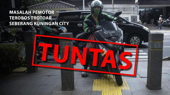 Masalah pemotor terobos trotoar seberang Kuningan City, TUNTAS