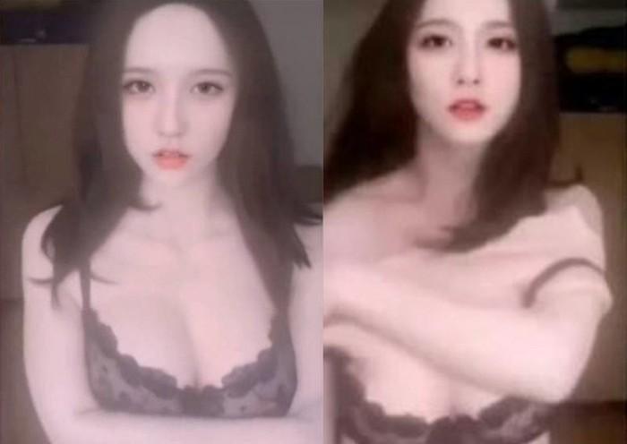 Penipuan dengan menggunakan tubuh wanita telanjang palsu.